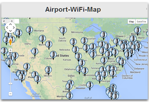Airport Wifi Finder Map